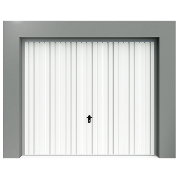 porte de garage basculante d bordante en acier avec hublot avec portillon avec rail de. Black Bedroom Furniture Sets. Home Design Ideas