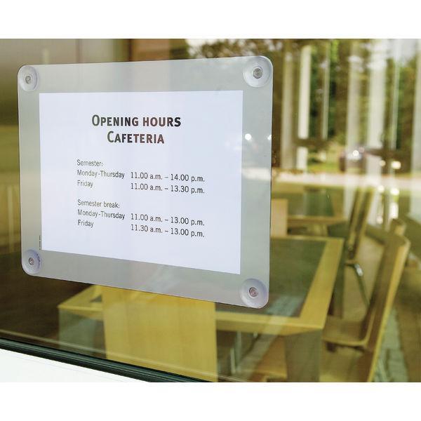 Panneau d 39 affichage pour vitrine tous les fournisseurs for Pancarte publicitaire exterieur