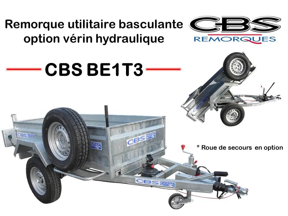 remorque basculante option verin hydraulique be1t3. Black Bedroom Furniture Sets. Home Design Ideas