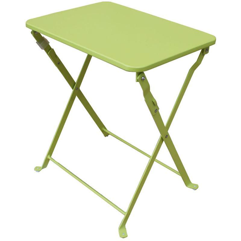 TABLE D\'APPOINT DE JARDIN EN FER FORGé COLORIS NOIR - DIM : H 74 X L ...