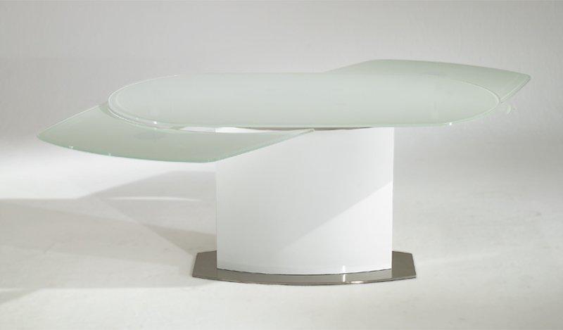 table de repas saturn blanche extensible jusqu 39 a 12 couverts. Black Bedroom Furniture Sets. Home Design Ideas
