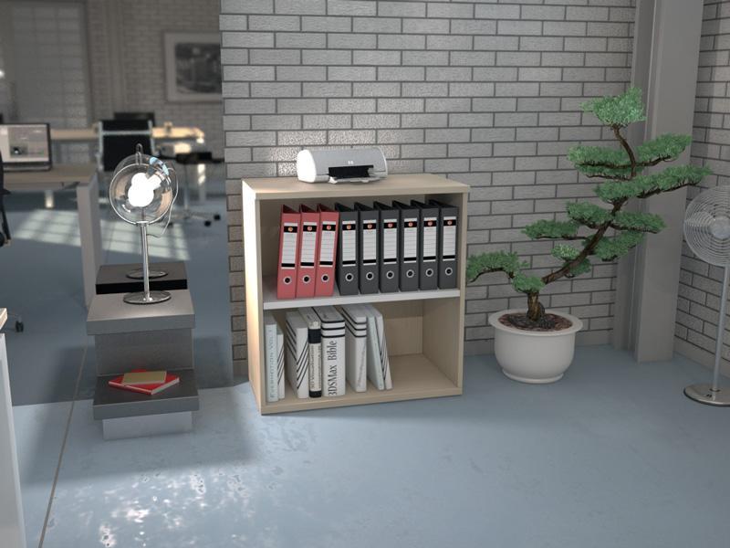 armoire basse ouverte bicolore l80 h82 5 h121 comparer les prix de armoire basse ouverte. Black Bedroom Furniture Sets. Home Design Ideas