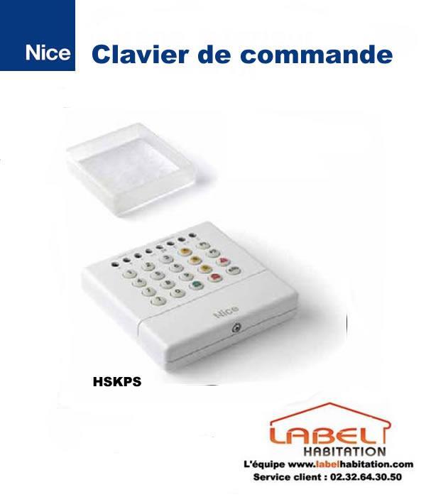 Clavier de commande pour alarme maison nice hskps for Alarme de securite pour maison