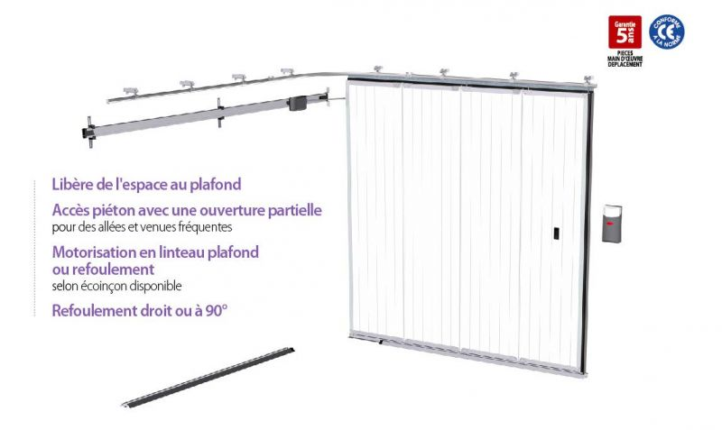 Portes de garage sectionnelles coulissante lat rale - Porte de garage eveno ...