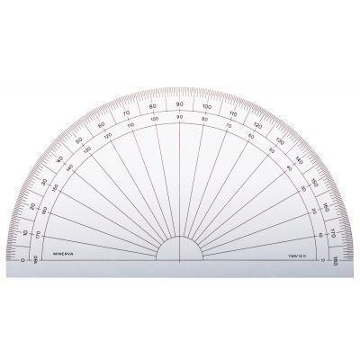 Rapporteur 1/2 cercle 15 cm  180°  gradué en degrés