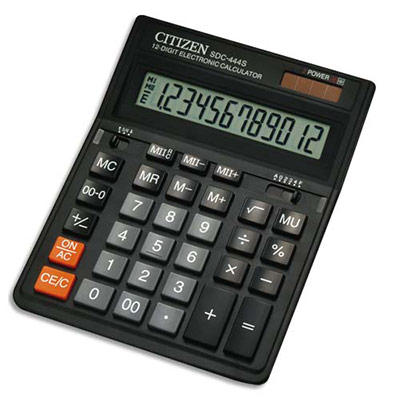 CALCULATRICE DE BUREAU CITIZEN SDC444S - 12 CHIFFRES