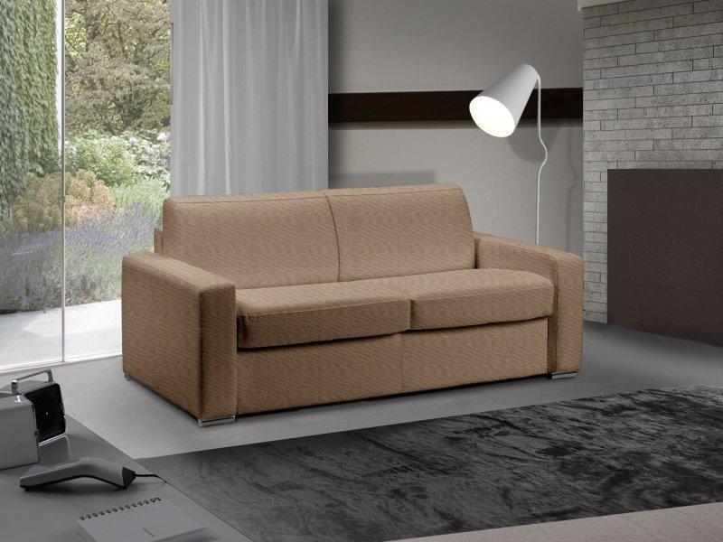 canape lit 2 3 places master convertible ouverture rapido 120 cm tweed cross taupe matelas 18 cm. Black Bedroom Furniture Sets. Home Design Ideas