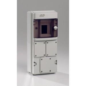 coffret de protection lectrique etanche ip55 ik08 1x4. Black Bedroom Furniture Sets. Home Design Ideas