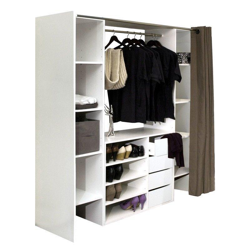 Penderie comparez les prix pour professionnels sur page 1 - Dressing extensible avec rideau ...