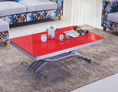 Best table basse relevable rouge images transformatorio - Table basse extensible relevable ...