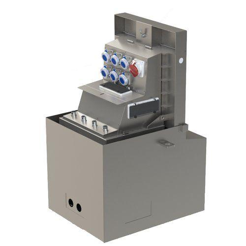 Borne 9450 - borne escamotable électrique - aireservices - nombre maximal de prises ip 67 mono 16a : 12 prises (elec), 8 prises (eau+elec)