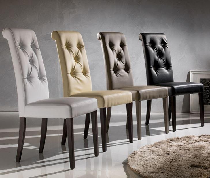 Chaises pour salles manger comparez les prix pour for Housse de chaise en cuir