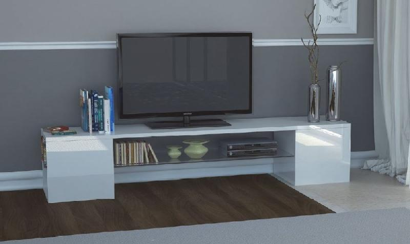 MEUBLE DESIGN TV MODERN B BLANC