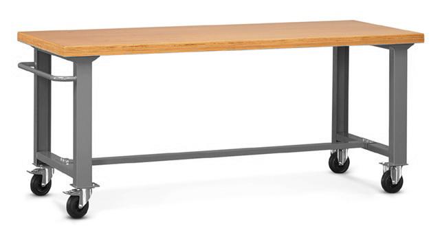 TABLE D'ATELIER ROULANTE L.200 X P.75 CM