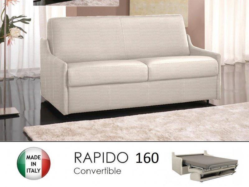 canape lit 4 places luna convertible ouverture rapido 160 cm tweed cross ecru. Black Bedroom Furniture Sets. Home Design Ideas