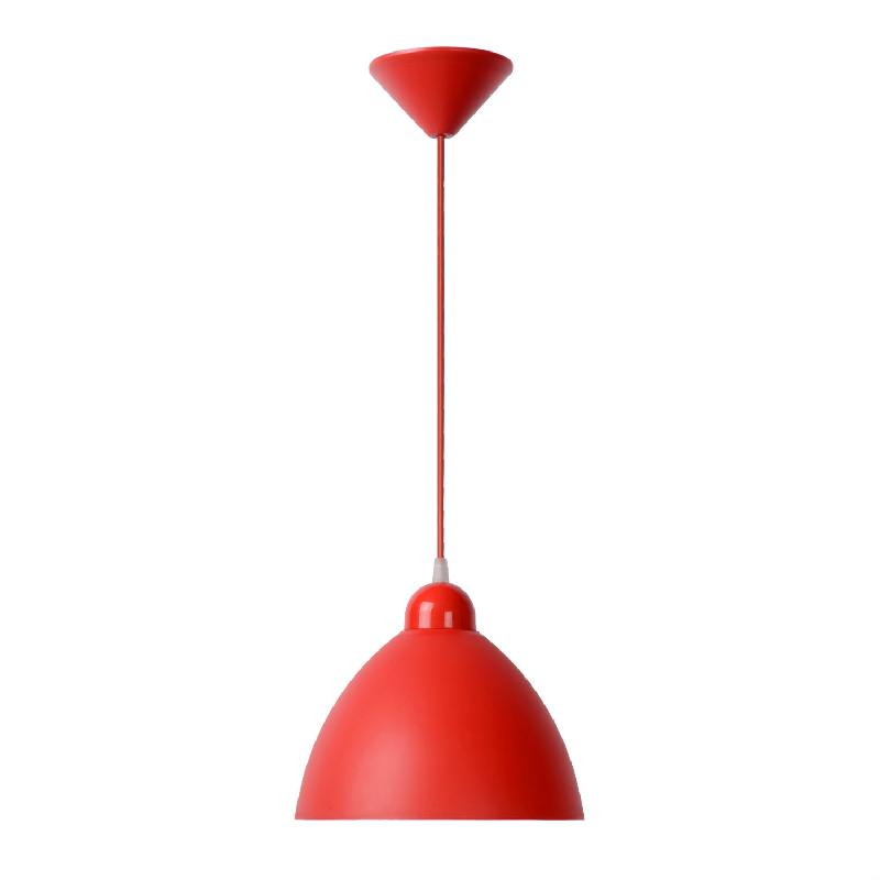 Suspension rouge cuisine maison design for Suspension luminaire cuisine rouge