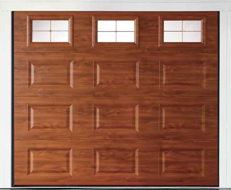 Porte de garage sectionnelle gamme k par k for Porte garage bois sectionnelle
