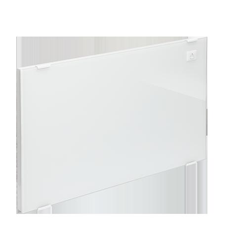 radiateur en verre a chaleur douce integrale et detection. Black Bedroom Furniture Sets. Home Design Ideas