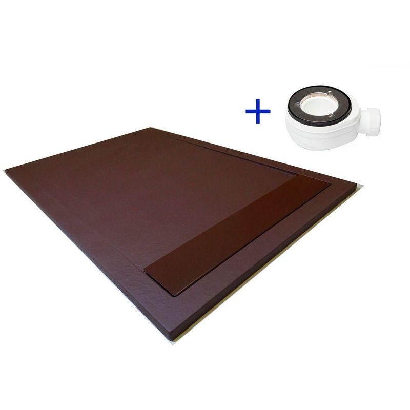 receveur de douche extra plat premium ambiente chocolat ral 8017 70x100 pdd comparer les prix. Black Bedroom Furniture Sets. Home Design Ideas