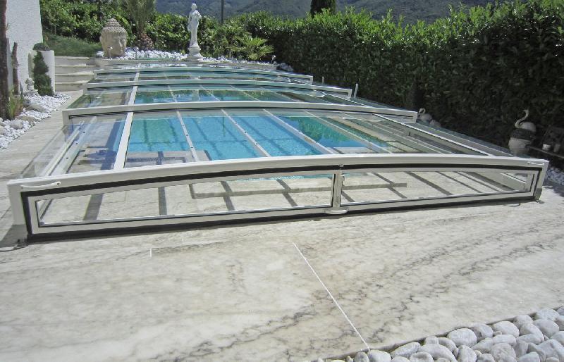 Abri de piscine bas paradiso limone slim glass 6 for Abri de piscine paradiso