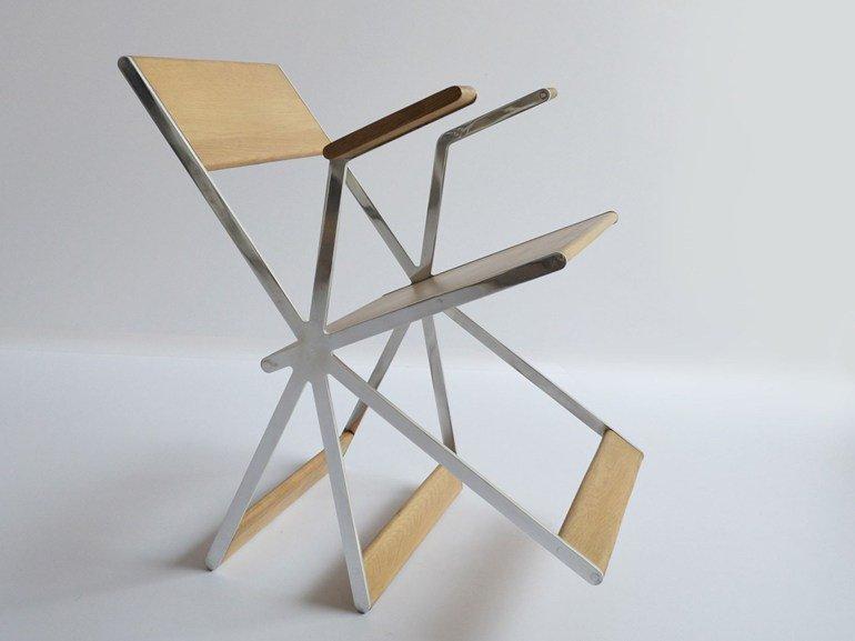 tripatte chaise relax design chene et acier par different and different. Black Bedroom Furniture Sets. Home Design Ideas
