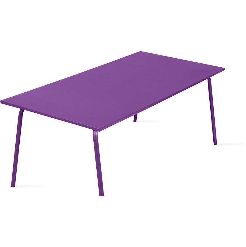 table de jardin en m tal design violet oviala comparer les prix de table de jardin en m tal. Black Bedroom Furniture Sets. Home Design Ideas