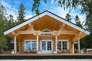 Maison en rondin de bois modele standard onkamo for Chalet bois 80m2