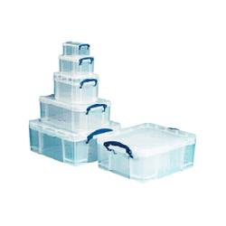 BOÎTES DE RANGEMENT REALLY USEFUL BOXES 1X 0.7 L  1.6 L  3.0 L  9.0 L  18.0 L 0 7 L + 1 6 L + 3 L + 9 L + 18 L   TRANSPARENT - 5 UNITÉS