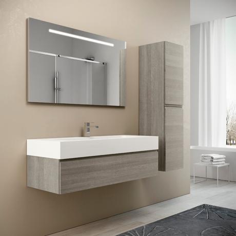 Meuble de salle de bain suspendu 120cm collection uniq q10 - Meuble salle de bain 120 cm ...