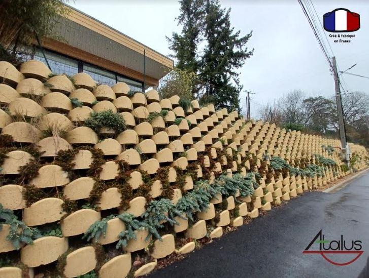 Mur de soutènement végétalisé < à 10m - atalus 120