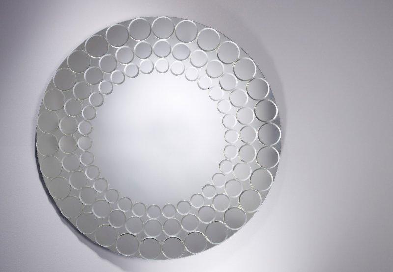 quantique miroir mural en verre
