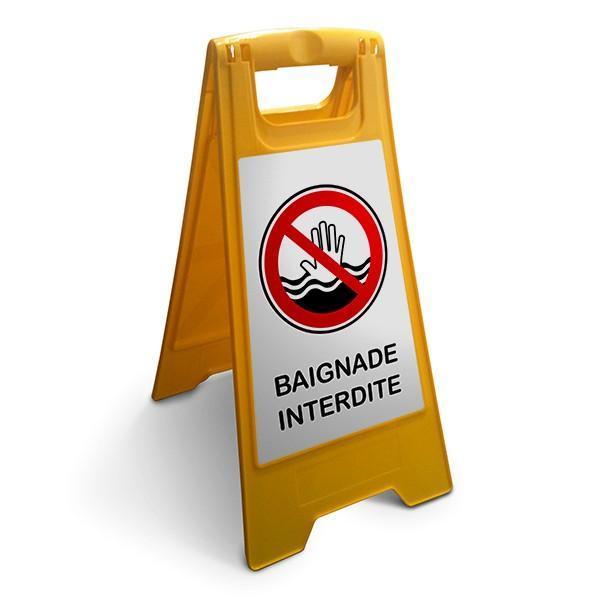 chevalet baignade interdite fond blanc comparer les prix de chevalet baignade interdite fond. Black Bedroom Furniture Sets. Home Design Ideas