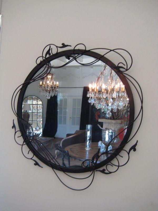 miroir rond. Black Bedroom Furniture Sets. Home Design Ideas