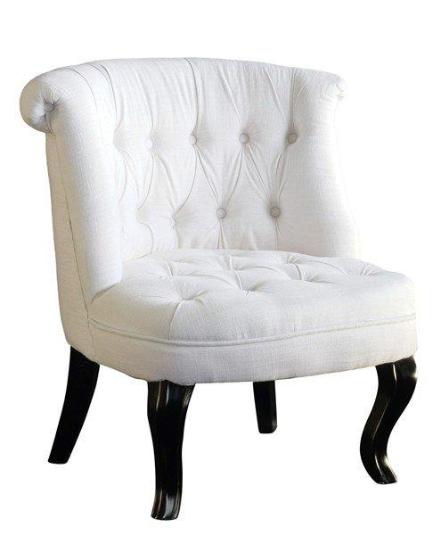 fauteuil capitonne design versailles lin blanc. Black Bedroom Furniture Sets. Home Design Ideas