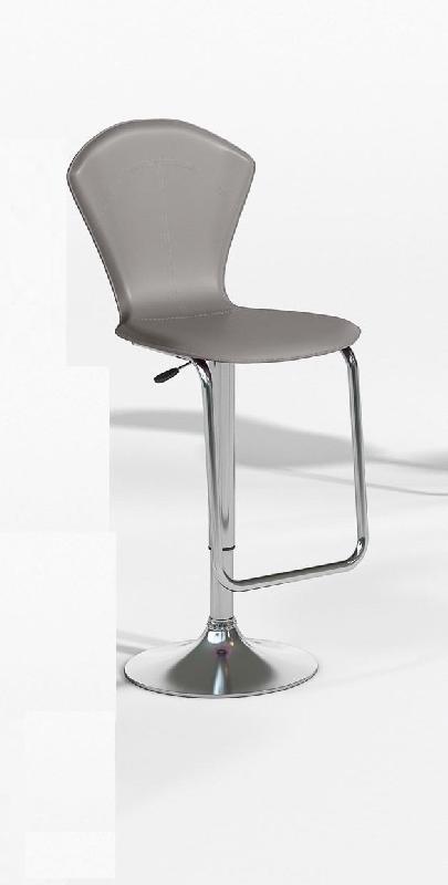 lot de 2 tabourets chaises de bar design jazzy gris et metal. Black Bedroom Furniture Sets. Home Design Ideas