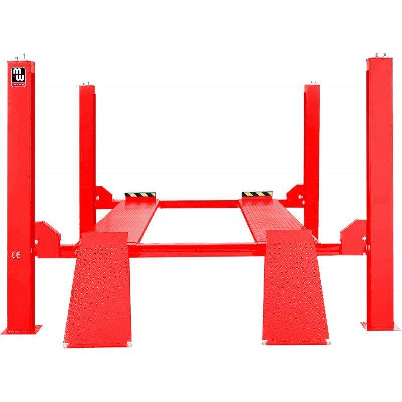 Hb452 - pont élévateur hydraulique 4 colonnes 5t - extra long et large conçu pour les camionnettes, les véhicules tout terrain, les camping-cars