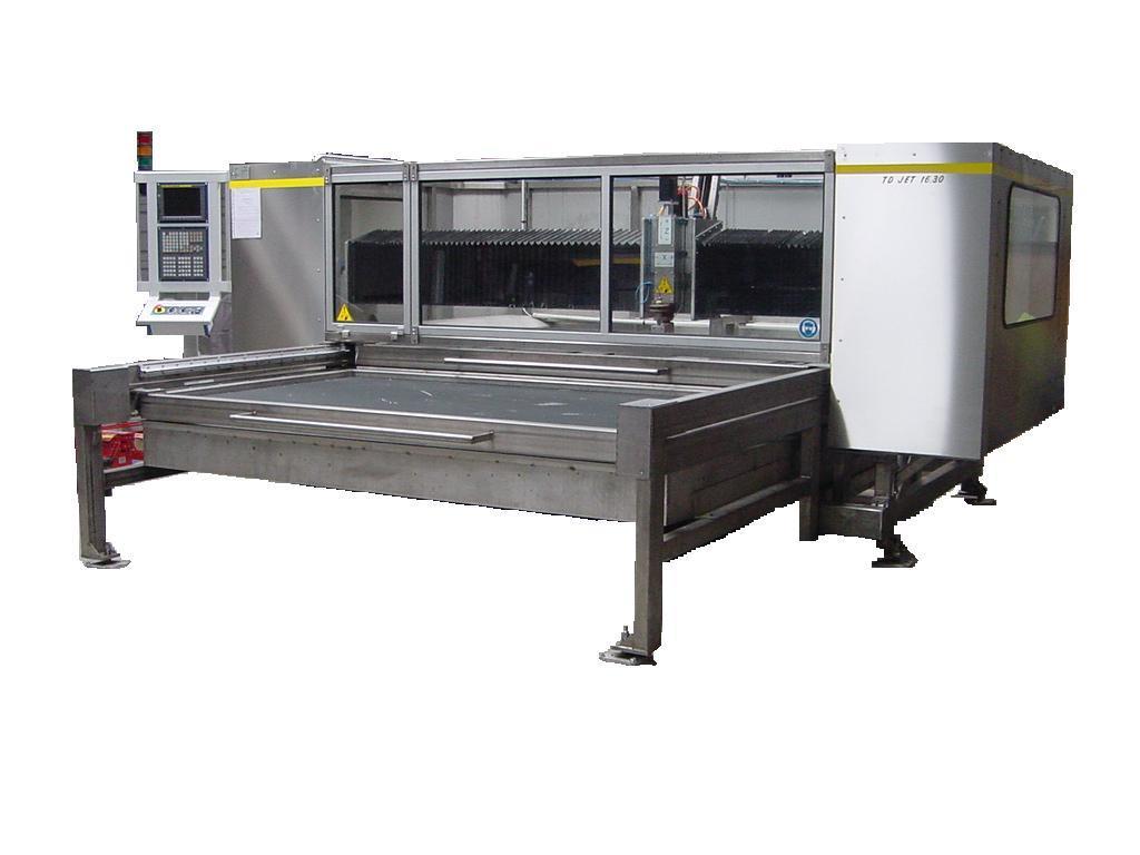 Machine de decoupe à jet d'eau abrasif type lc jet option c/d