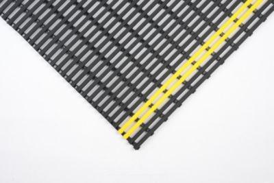 tapis antid rapant pvc recycl au m tre lin largeur 1000 mm noir jaune comparer les prix de. Black Bedroom Furniture Sets. Home Design Ideas