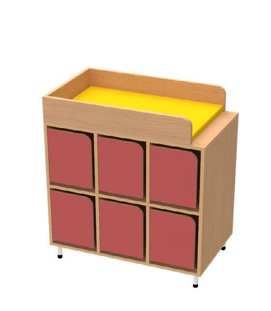 Meuble de deshabillage 6 casiers avec portes bessi re for Meuble 6 casiers