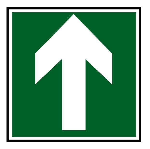Panneau ou autocollant indiquant une direction suivre for Panneau inox autocollant