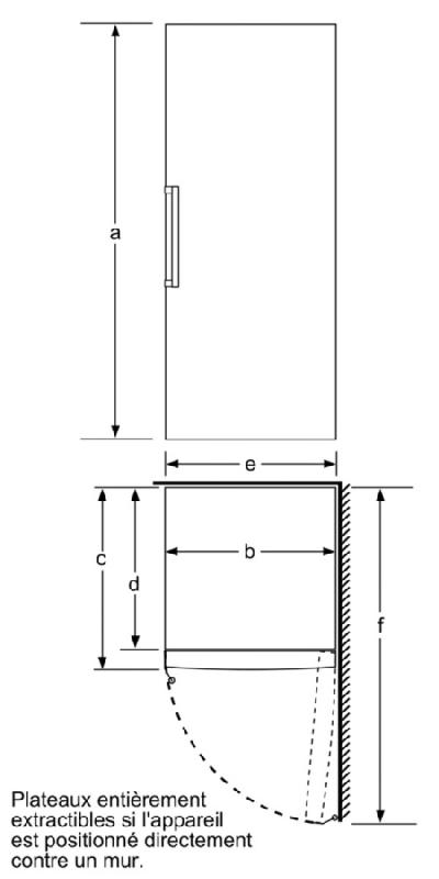 bosch congelateur armoire confort gsv36vw30 gsv36vw30. Black Bedroom Furniture Sets. Home Design Ideas