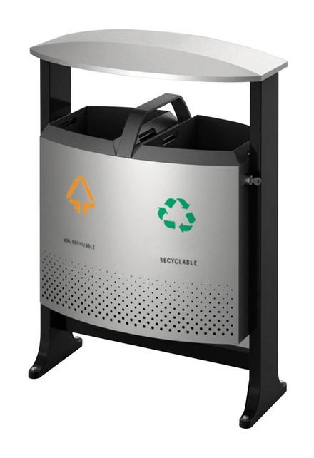 poubelle de tri exterieur 2x39l eko. Black Bedroom Furniture Sets. Home Design Ideas