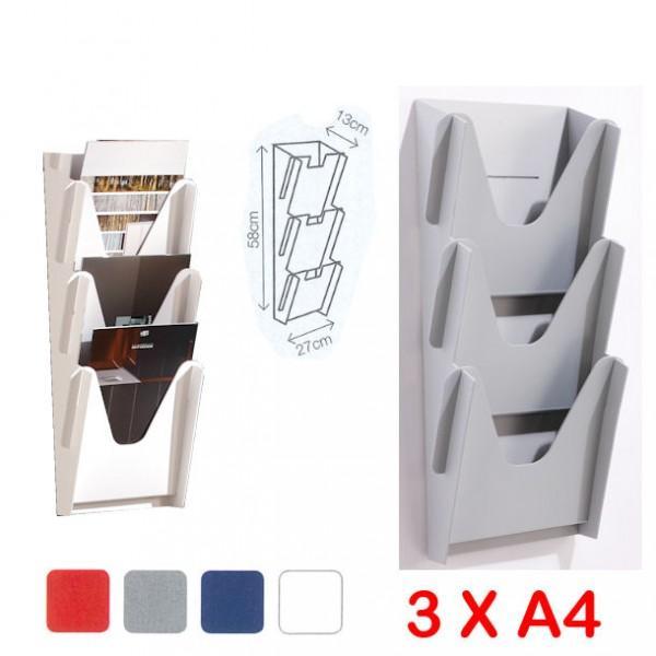 presentoir mural 3 places. Black Bedroom Furniture Sets. Home Design Ideas