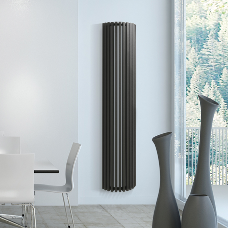 radiateur mural vertical d co 180x40cm diva comparer les. Black Bedroom Furniture Sets. Home Design Ideas