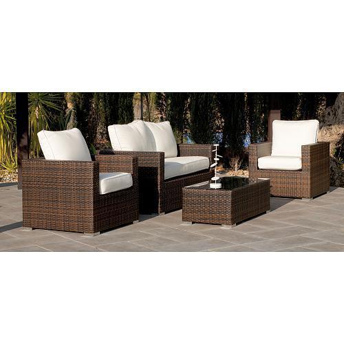 Awesome Salon De Jardin Tresse Avec Table Coffre Ideas - Amazing ...