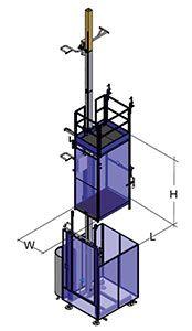 ascenseur de chantier pour personnes et materiaux junior as. Black Bedroom Furniture Sets. Home Design Ideas