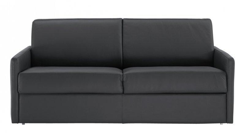 canape lit rapido sun cuir accoudoirs fin matelas epais 140 14cm couchage quotidien. Black Bedroom Furniture Sets. Home Design Ideas