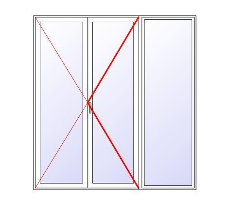 Portes fenetres bois 2 vantaux 1 fixe gamme primabois for Fenetre 4 vantaux dont 2 fixes