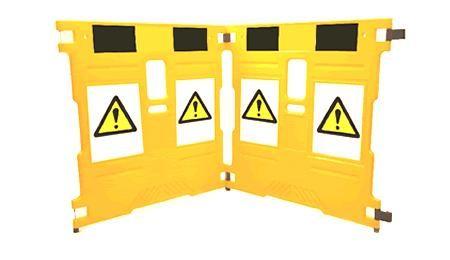 Barrière de sécurité et maintenance, légère, extensible et pliable
