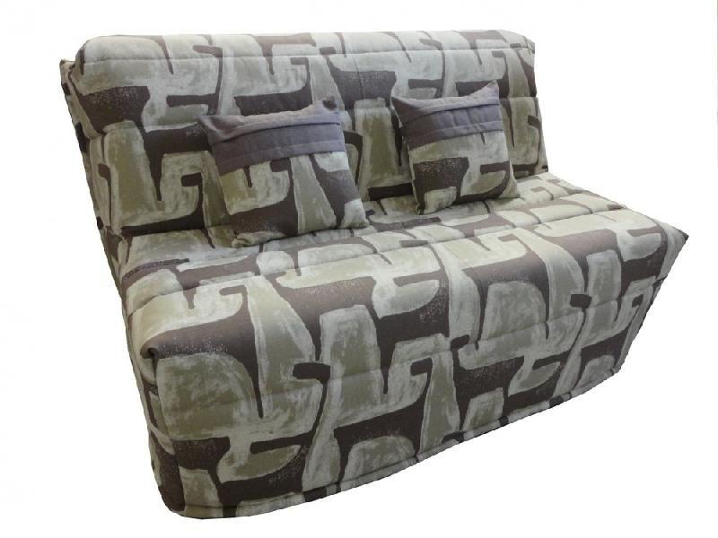 banquette bz convertible axel motifs taupe 160 200cm matelas confort bultex comparer les prix. Black Bedroom Furniture Sets. Home Design Ideas